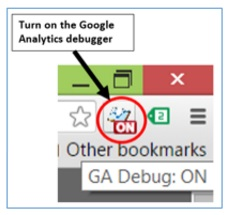turn on ga debugger