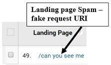 google analytics spam - fake request URI