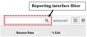 reporting interface filter