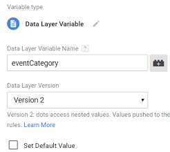 data layer variable