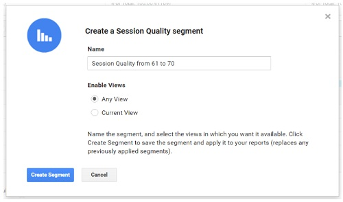 create session quality segment