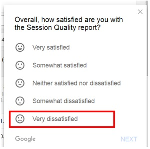 satisfaction session quality report