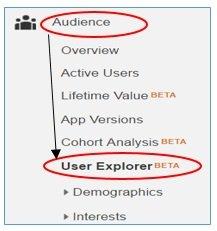user explorer app view