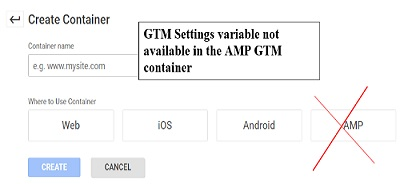 amp gtm container