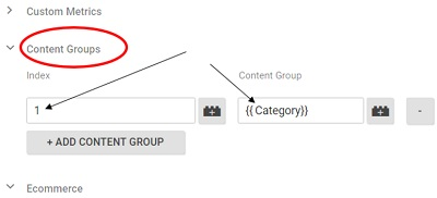 content grouping google tag manager