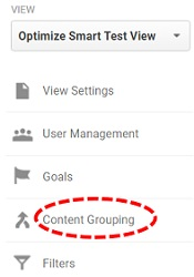content grouping link