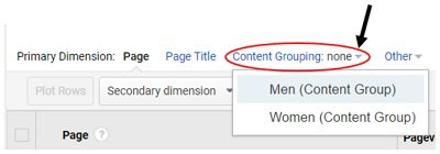 content grouping none