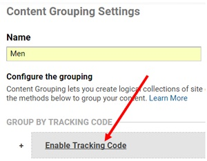 enable tracking code