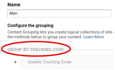 group by tracking code
