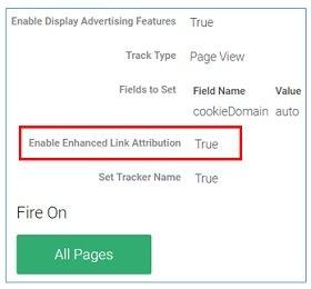 gtm enhanced link attribution
