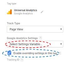 select settings variable