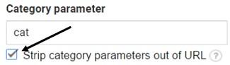 strip category parameter
