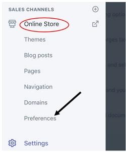 preferences shopify