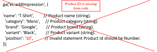 missing product id
