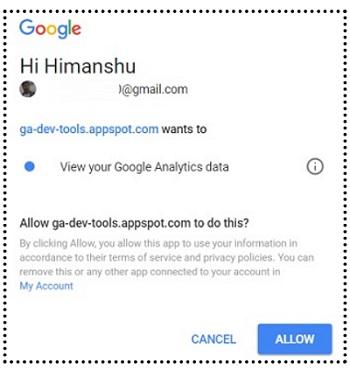 allow to view ga data