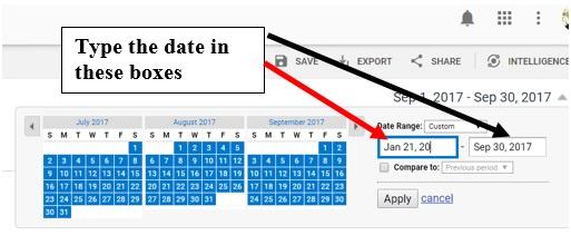 typing dates in ga