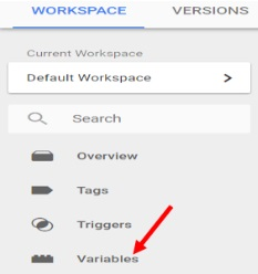 variables tab