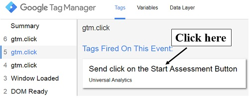 click on tag