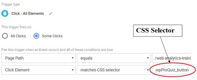 Google Tag Manager CSS selectors