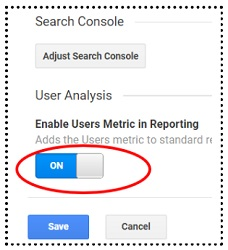 Adding Users Metric to Google Analytics Reports