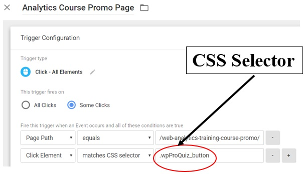 CSS selectors in Google Tag Manager