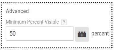 minimum percent visible