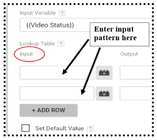 enter input patterns
