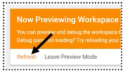 refresh preview mode