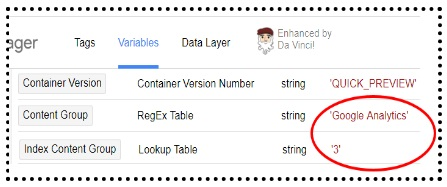 regex lookup table variables