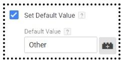 set default value 1