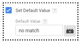 set default value