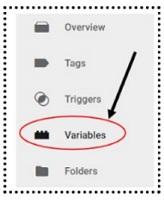variables gtm menu