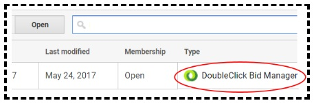 audience of type doubleclick bid manager