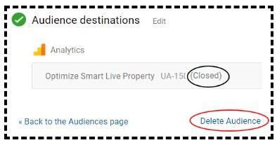 delete audience