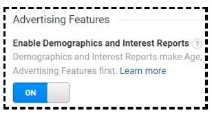enable demographic and interest reports