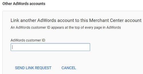 link adwords to merchant center