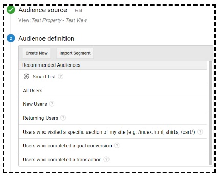 recommended audiences list
