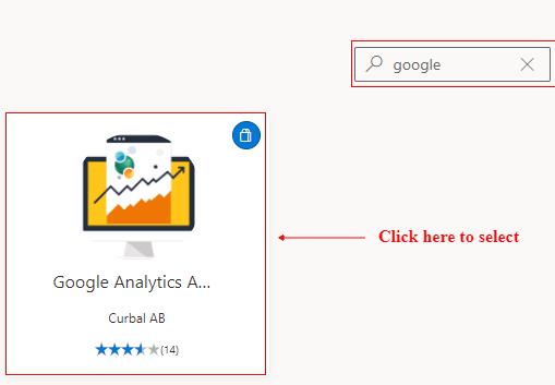 search google analytics