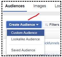 create audience menu facebook