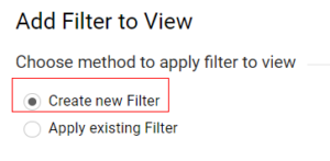 facebook referral traffic Create new filters
