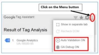 ga ip filter auto validation on
