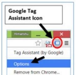 ga ip filter tag assistant options