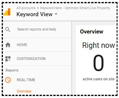 keyword view real time report