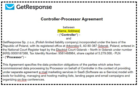 controller processor agreement