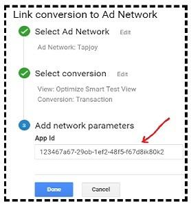add network parameters postbacks