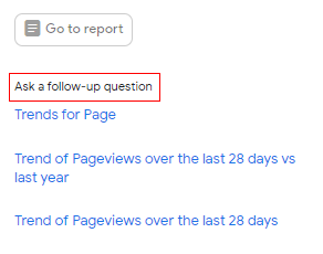 ask follow up question