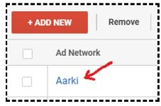 change settings ad network