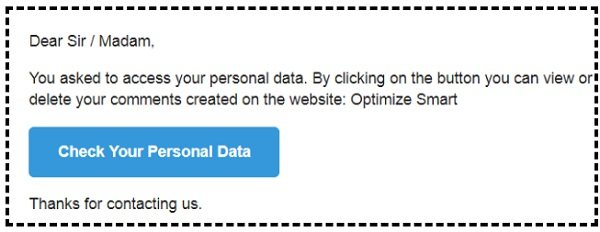 check your personal data