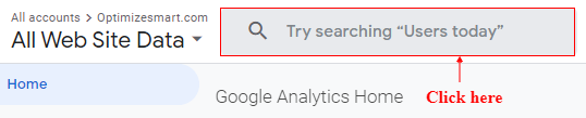 click on search