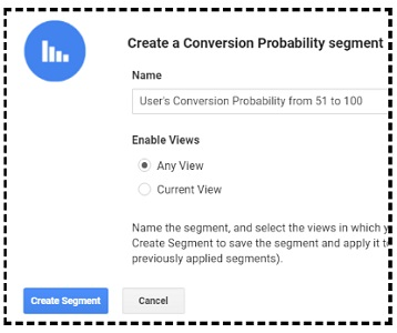 create conversion probability segment